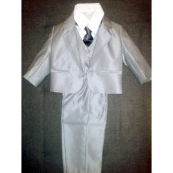 Grey suit for boy with...