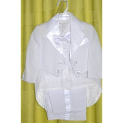 White suit for boy, with vest