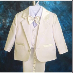 Suit for boy, creamy